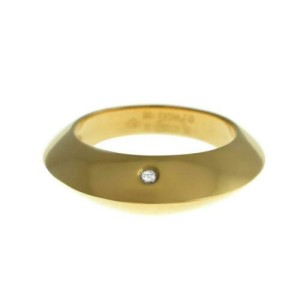 New Piaget 18K Yellow Gold 10 grams Diamond Size 55 7.25 Ring