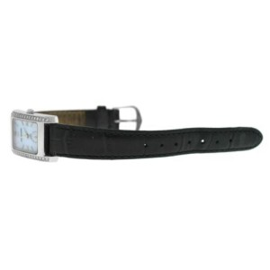Ladies Tourneau 1064 Diamond MOP Steel Quartz 20MM Watch