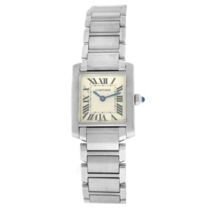 Cartier Tank Francaise 2384 Ladies' Stainless Steel Quartz 20MM Watch