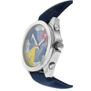 Unisex Jacob & Co. Five 5 Time Zone Watch JCM-7 Stainless Steel 40MM MOP