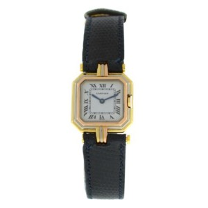 Ladies' Cartier Centure Paris Trinity Tri Color 18K Yellow Rose White Gold 22MM