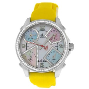 Unisex Jacob & Co. Five 5 Time Zone JCM-24DA Diamond Bezel 40MM MOP Watch New