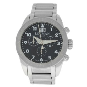 New Locman Isola D'Elba Titanium Ref. 460 Men's Chronograph Quartz 43MM Watch