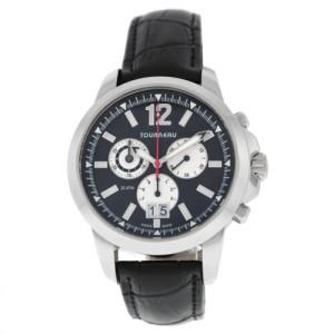 Men's Tourneau 5050.B Date Chronograph Stainless Steel Quartz 42MM Watch