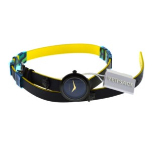 New Versace V-Flare VEBN00518 Steel PVD Wrap Around Bracelet Quartz 28MM Watch