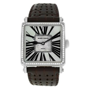 Roger Dubuis Golden Square Limited Edition 18K White Gold Diamond MOP 34MM Watch