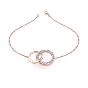 GLAM ® Bracelet In 14K Gold with 0.52ct White Diamonds