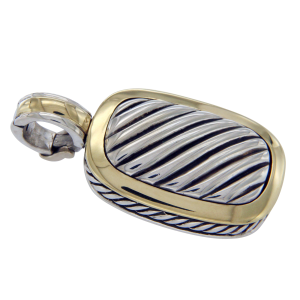 David Yurman 18K Yellow Gold and Sterling Silver Enhancer Cable Pendant