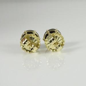 Ippolita 18K Yellow Gold Medium Round Stud Earrings in Black Shell