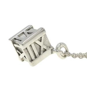 Tiffany & Co silver Atlas Cube Necklace