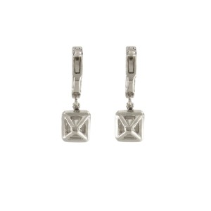 14K White Gold with 3.20ctw. Diamond Drop Earrings