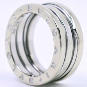 BVLGARI 18k White Gold  B.Zero 1 Ring 4.75