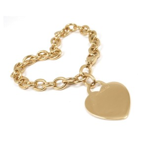 d6a9d7ee6 18K Yellow Gold Heart Tag Charm Bracelet   Tiffany & Co.   Buy at TrueFacet
