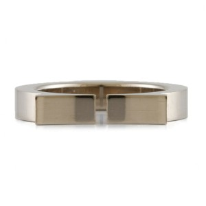 CARTIER 18K white gold C flat Ring