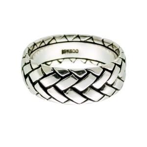 Scott Kay Basket Weave 19K White Gold Ring Size 11