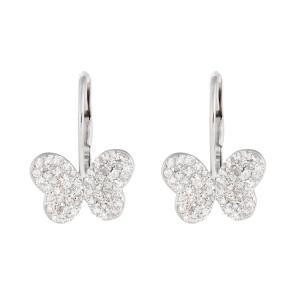 Jordan Scott Design Pave Butterfly Earrings