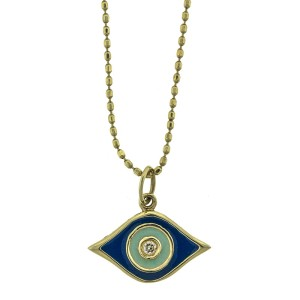 Sydney Evan 14k Yellow Gold Enamel Evil Eye