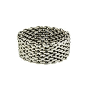 b55f8b6c0 Sterling Silver Somerset Mesh Ring | Tiffany & Co. | Buy at TrueFacet