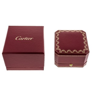 Cartier Trintiy 18k Tri-Color Gold Ring Size 52