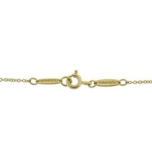Tiffany & Co. 18k Yellow Gold Infinity Jade Necklace