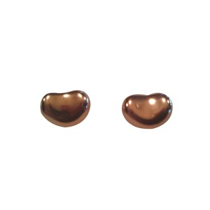 Elsa Peretti Tiffany 18K Gold Bean Shaped Earrings