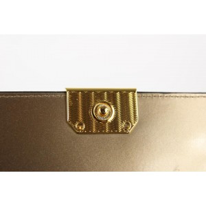 Emporio Armani Gold Geometric Quilted Crossbody Flap Bag 12AX1216