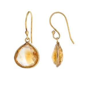 Citrine Gold Plated Sterling Silver Earrings