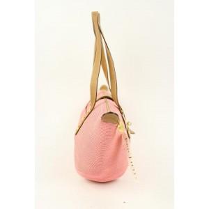 Eric Javits Msml19 Pink Canvas Hobo Bag