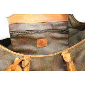 Etro Bordeaux Paisley Duffle Travel Bag 121et23