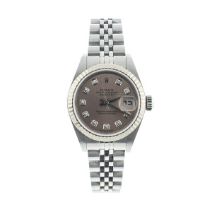 Rolex Ladies Stainless Steel Datejust Factory Diamond Dial Watch