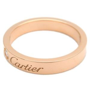 Cartier Engraved 1P Diamond Ring