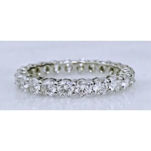 Tiffany & Co .Platinum with 2ct. Diamond Wedding Band Ring Size 6.5