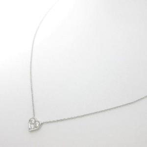 Tiffany & Co. 950 Platinum Diamond Heart Pendant Necklace