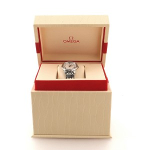Omega De Ville Prestige Quartz Watch Stainless Steel with Diamond Markers 27