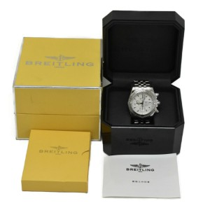 BREITLING Chronomat Evolution A13356 Silver Dial Automatic Men's Watch