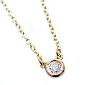 Tiffany & Co. 18k Pink Gold/diamond By the yard Necklace