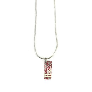 Christian Dior metal Trotter plate Necklace