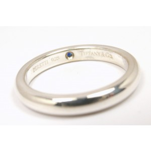 7832d7dca Tiffany & Co. Peretti Sterling Silver Blue Sapphire Stacking Band Ring Size  5
