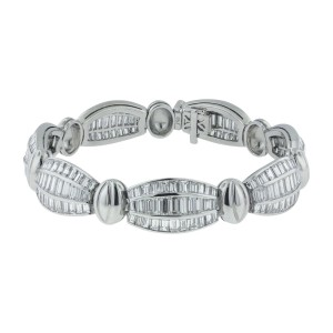 18K White Gold with 22ct. Diamond Bracelet