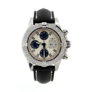Breitling Superocean Stainless Steel & 2ct Diamond Mens Watch