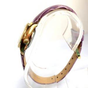RADO PURPLE HORSE Day Date Automatic Goldplated & Steel Ladies Watch