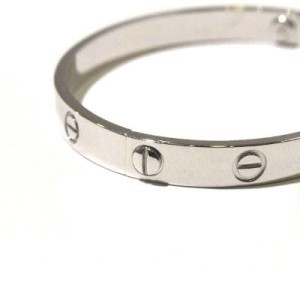 Cartier Love 18K White Gold Bracelet Size 16
