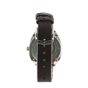 Fendi Momento Quartz Watch Stainless Steel and Leather with Alligator 34