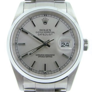 Mens Rolex Stainless Steel Datejust Silver  16200