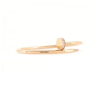 Cartier Juste un Clou Bracelet 18K Rose Gold with Diamonds Large