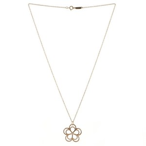 Tiffany & Co. Garden Open Flower Pendant Necklace 18K Rose Gold and Diamond Medium