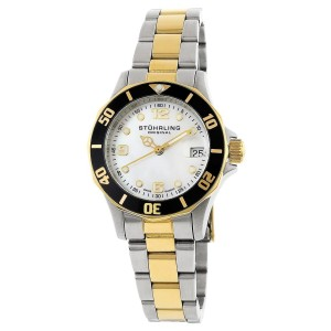 Stuhrling Lady Clipper 157.112237 Two-Tone Stainless Steel & MOP 36mm Watch