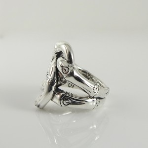 John Hardy Sterling Silver Bamboo Knot Ring Size 7