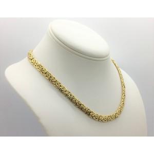 14K Yellow Gold Byzantine Necklace