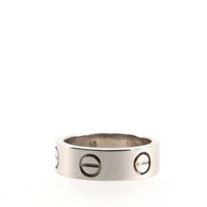 Cartier Love Band Ring 18K White Gold 4.25 - 48
